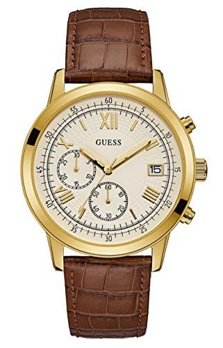 Guess Orologio Cronografo Quarzo Uomo con Cinturino in Pelle W1000G3