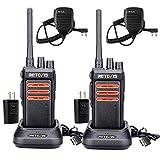 Retevis RT76 GMRS Handheld Radios Long Range,30 Channels 1400mAh Rechargeable Walkie Talkies Adults NOAA 2 Way Radio with Speaker Mic (2 Pack)