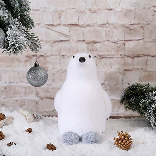 Duquanxinquan - Piccolo pinguino in miniatura, decorazione di Natale, Babbo Natale, decorazione da giardino, pinguino, statuetta di animali per micro paesaggio, bonsai fai da te, bricolage