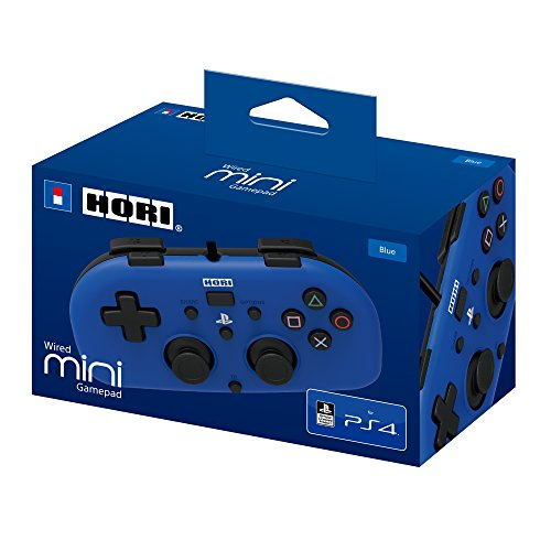 Wired Mini Gamepad for Kids - Playstation 4 Controller - Officially Licensed (Blue) Florida