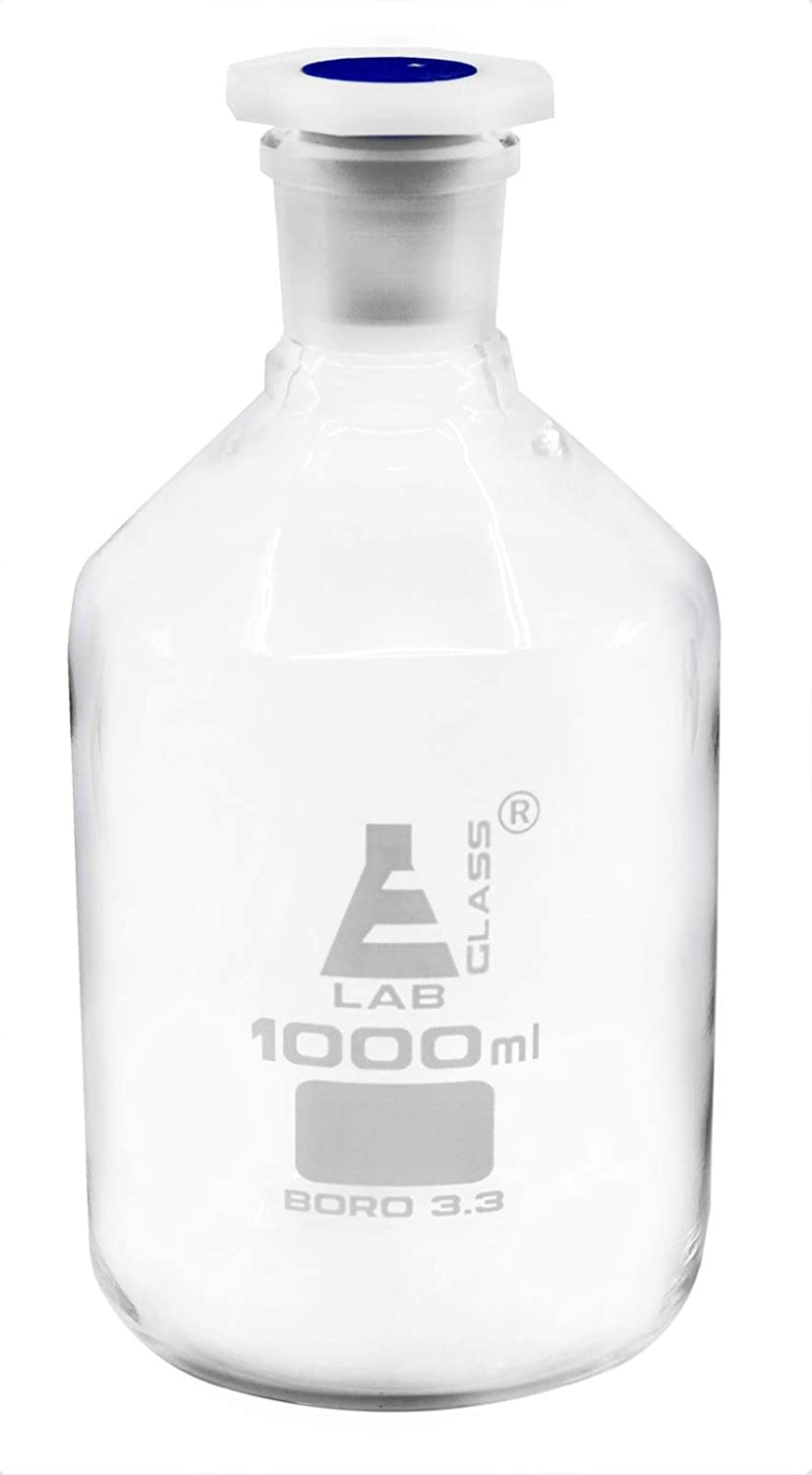 1000mL 33.8oz Glass Mesa Mall Reagent Bottle Acid National uniform free shipping Polypropyle Proof with
