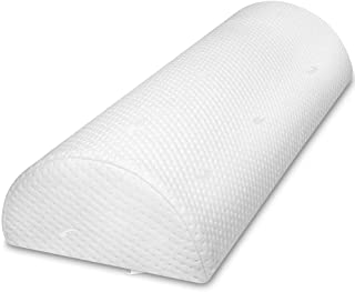 Half Moon Body Pillow – Bolster Wedge Knee Pillow – Lumbar Back Knee Cushion for Side or Back Sleeper –Effective Pain Relief– Soft and Comfortable – Reliefs Legs, Back and Body Pains