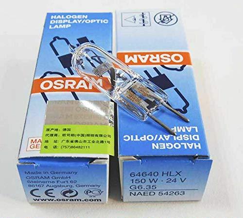 Genuine 10pcs Osram HLX 64640FCS 150W 24V G6.35Lámpara