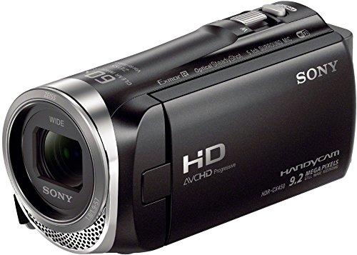 Sony HDR-CX450 Full HD Camcorder (26,8mm Weitwinkel Carl Zeiss Vario-Tessar Objektiv, 30x Zoom, EXMOR R CMOS-Sensor, Optical SteadyShot, 5-Achsen-Bildstabilisierung, intelligenter Autofokus) schwarz