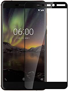 Nokia 6 2018 Screen Protector 9H Hardness 3D Tempered Glass - Black