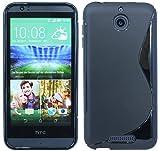 ENERGMiX Silikon Hülle kompatibel mit HTC Desire 510 Tasche Hülle Gummi Schutzhülle Zubehör in Schwarz