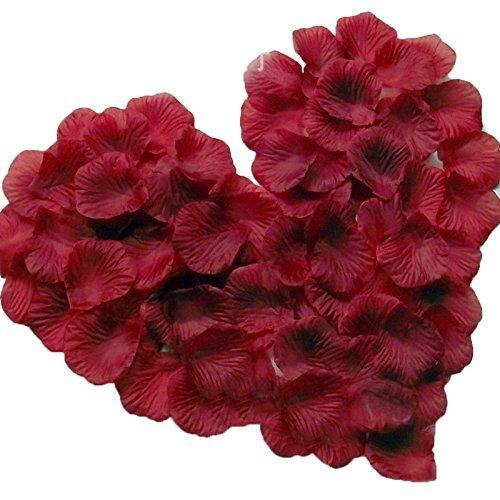 Magik, 1000/5000petali di rosa in seta, adatti come decorazione per la tavola in occasione di feste e matrimoni, varie opzioni disponibili, Burgundy, 1000