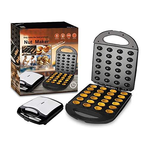 SUNASQ Mini máquina para Hacer gofres, Máquina para gofres pequeña y portátil Práctica máquina para Hacer nueces Máquina de Desayuno eléctrica de Acero Inoxidable para gofres domésticos.