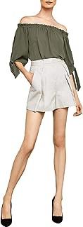 Women's Pleated Cotton Short