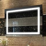 Duschdeluxe Badspiegel Lichtspiegel 80 x 60 cm LED Spiegel Wandspiegel nergieeffizienzklasse A ++...