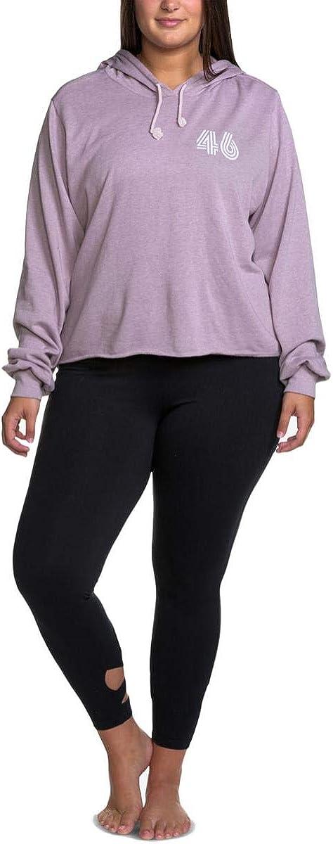 Soffe Womens Plus Fitness Running Hoodie Purple 1X