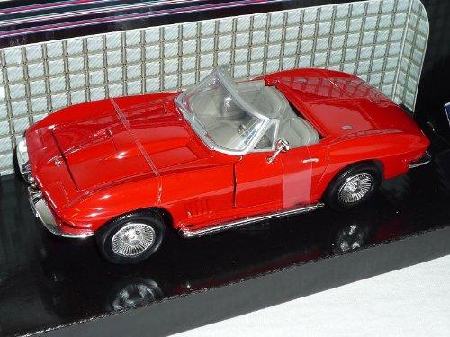 Chevrolet Chevy Corvette 1967 C2 Rot Sting Ray 1962-1967 Oldtimer 1/24 Motormax Modellauto Modell Auto