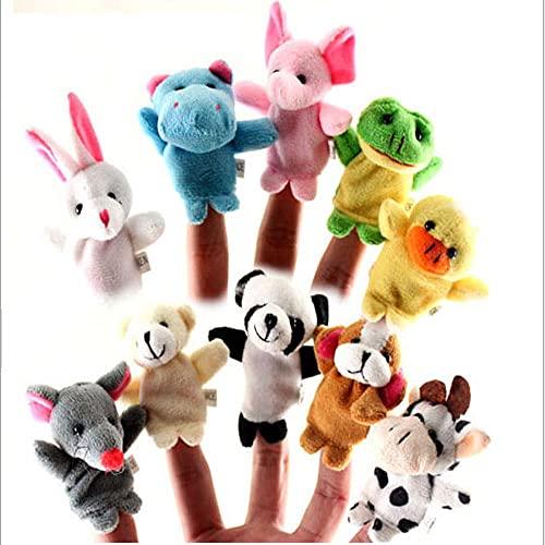QIYA 10 Títeres De Dedos Mano De Animal De Doble Capa con Pies Muñecas De Los Pies Muñecas Narración Helete Toys Toys 7 Cm