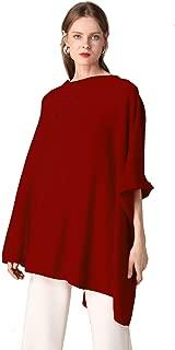 Women's Pure Cashmere Scarf Pashmina Autumn Winter High-End Luxury Oversized Ponchos