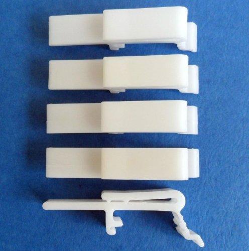 4 PCS Vertical Blind Dust Cover Valance Clip Holder Bracket