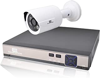 SecuSTATION 白 防犯カメラ 1台セット PoE給電 4ch カメラ最大4台まで増設可能 日本メーカー 511万画素 屋外 防水 AI検知 スマホ対応 監視カメラ ネットワークカメラ マイク内蔵 録画機 HDDなし SC-XP45K