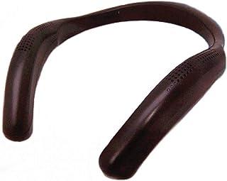 リタプロショップⓇ ウェアラブルスピーカー 充電式 Bluetooth 4.2 ネックスピーカー ハンズフリー (ブラック)