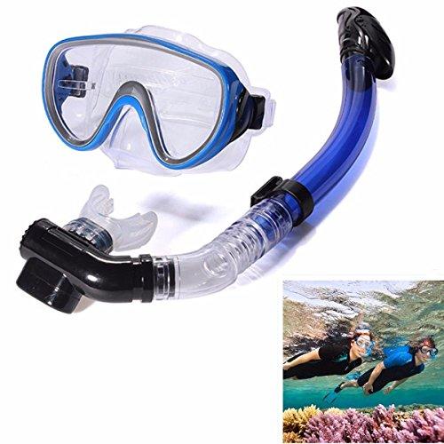 Adult Snorkel Set PVC Glass Swimming Diving Scuba Anti-Fog Goggles Mask US