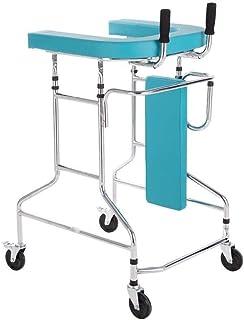 ZKS-KS ウォーキングフレーム、高齢ウォーカー、脳卒中片麻痺リハビリ機器、アダルトウォーカー、多機能下肢トレーニングウォーキングスタンド、ヘルプ独立ウォーキング