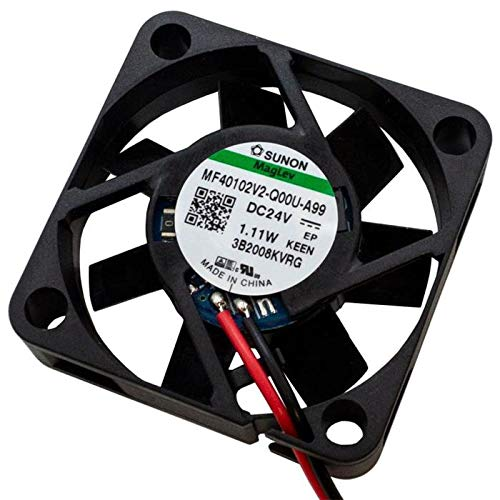 Sunon MF40102V2-A99 - Ventilador (24 V CC, 1,11 W, 40 x 40 x 10 mm, 11,9 m³/h, 5800 rpm)