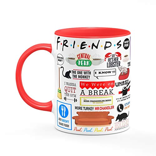 Caneca Friends Icons Moments B-red