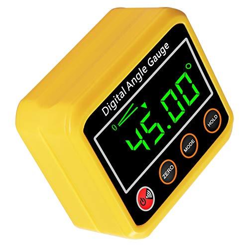 Winkelmesser, digitaler Winkelmesser-Neigungsmesser Winkelmesser Magnetfuß - Präzisions-Level-Box für Automobil, Holzbearbeitung, Bauwesen, Bohrmaschinen, Mauerwerk