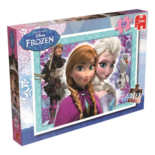 Disney Frozen Jumbo Games - Puzzle da 50 Pezzi