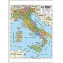 Cartina Italiana Stradale.Cartina Stradale Dell Italia Con Carta Plastificata Misura A1 59 4 X 84 1 Cm Amazon It Cancelleria E Prodotti Per Ufficio