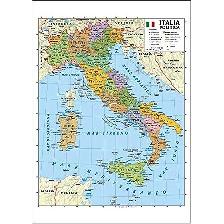 Cartina Italia Politica Vuota.Cwr Cartina Geografica Italia Fisica E Politica Formato A4 Confezione Da 10 Amazon It Cancelleria E Prodotti Per Ufficio