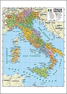 Cartina Stradale Italia Centro Nord.Amazon It Mappa Italia