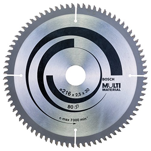 Bosch Professional Disco de sierra circular Multi Material (216 x 30 x 2,5 mm, 80 dientes, accesorio de sierra circular)