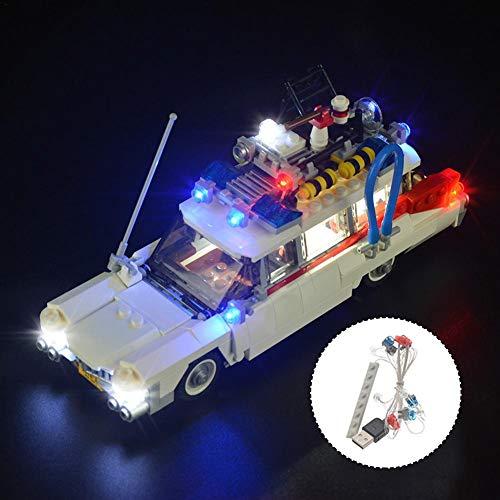 LED Beleuchtung Licht-Set DIY Leuchtende Bausteine Zubehör für LEGO 21108 Ghostbusters Ecto-1 Lighting Bricks (Enthält Keine Spielzeugmodelle)