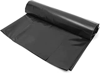 HDPE Rubber Pond Liner, 3 x 2m feet Pre Cut Black Pond Liner for Water Garden,Koi Ponds, Streams Fountains,3x3M