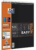 Oxford 400019526 Cuaderno espiral digitales EasyNotes con SOS App A4, 80 hojas, 90 g / m²,  Paquete de 5, colores surtidos