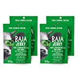 Baja Beef Jerky | Lime & Serrano Pepper | 4 Pack, 1 oz Healthy Snack Pack Bags | Gluten Free, Keto Friendly, 11g Protein/Bag, Low Calorie, 100% Natural Beef, 96% Fat Free, No Added MSG/Nitrates
