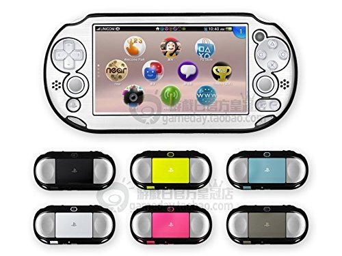 Szjay Metal Aluminum Metallic Protection Hard Case Cover for Playstation Ps Vita 2000 Slim (Silver)