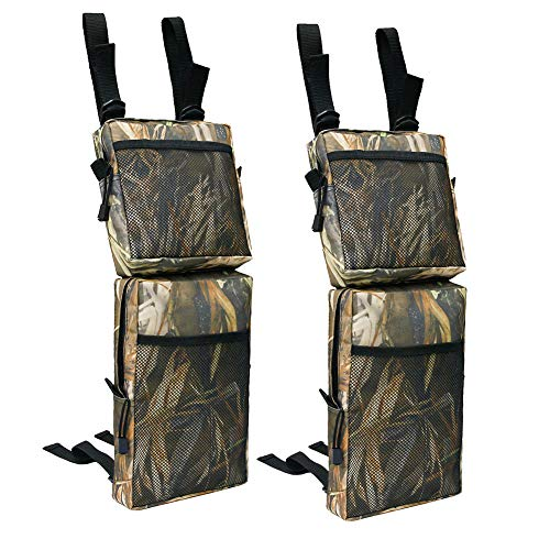 YULLING 2 bolsas de guardabarros para ATV, 600D Oxford tela ATV Tank Saddle Bolsas de camuflaje de almacenamiento de carga bolsas de caza impermeable ATV UTV bolsa de almacenamiento