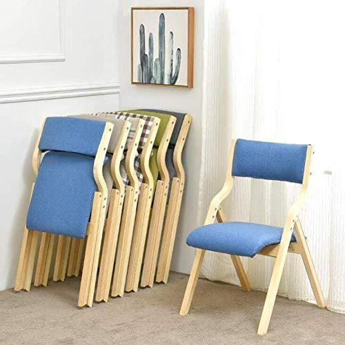 Klappstuhl, gepolsterter Esszimmerstuhl aus Holz Bürostuhl Schreibtischstuhl 1 X (Farbe: Grau)