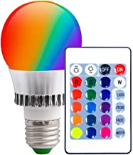 Kingwin Color Changing Smart Light Bulbs, RGB Color Changing LED Lamp Fixtures, Easy Installation, Available in Red, Green...