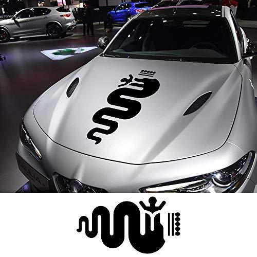 FSXTLLL Auto Seitenstreifen Seitenaufkleber Aufkleber, Für Alfa Romeo MiTo Giulia Giulietta 147 156 159 166