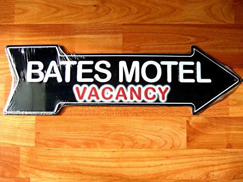 NOT Bates Motel Vacancy Arrow Cartel de Pared de Chapa Cartel de Placa de Metal Arte Colgante Retro Pintura de Hierro Vintage Band Yard Advertencia Cafe Bar Pub WC Regalo