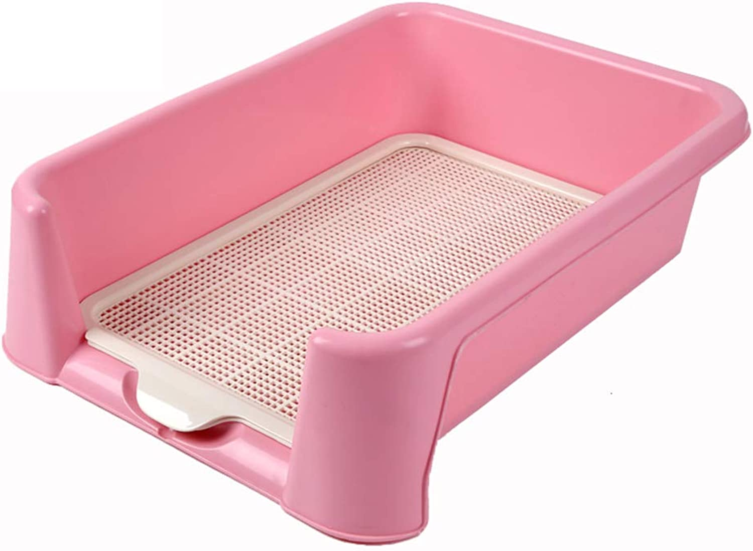North cool Fence Pet Cat Dog Toilet, Pet Potty Urinal Large and Medium Dog Toilet (color   Pink, Size   42  42cm)