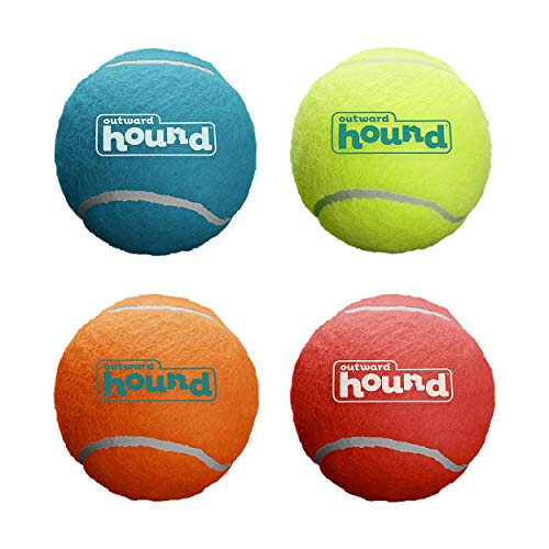 Outward Hound Squeaker Ballz Fetch Dog Toy, Large - 4 Pack