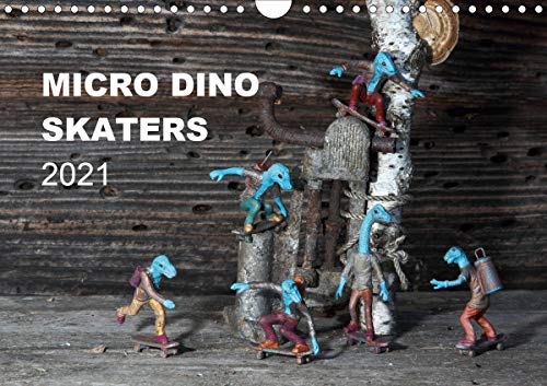 Micro Dino Skaters 2021 (Wandkalender 2021 DIN A4 quer)