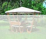 Ersatzdach Pavillon ROSENHEIM wahlweise in weiß o. grün Gartenlaube Holzpavillon