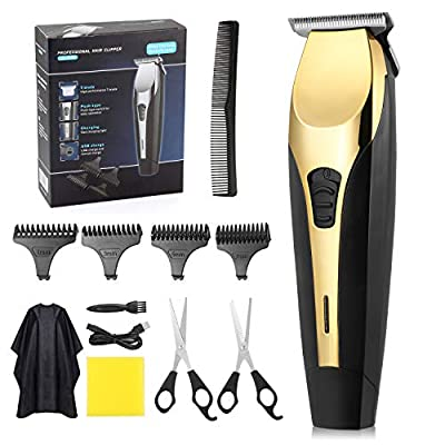 Hair Clipper,Heatigo Professional Hair Clippers for Men Electric Haircut Kit Hair Trimmer,USB Charging with 4 Guide Combs for Everyone in The Family by Heatigo