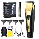Mens Hair Clippers, ss shovan Hair Cutter for Men Cordless USB Rechargeable Hair Trimmer Set Beard Trimmer Grooming Cutter Kit Electric Hair Removal Machine with 4 Combs Low Noise