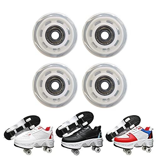 JZIYH Ersatzrollen für Rollschuhe Rollen mit kugellager Ersatzteile, Roller Skates Rad, Schuhe mit Rollen