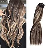 Best Clip In Hair Extensions - Balayage Clip in Hair Extensions Double Weft 8pcs100g Review