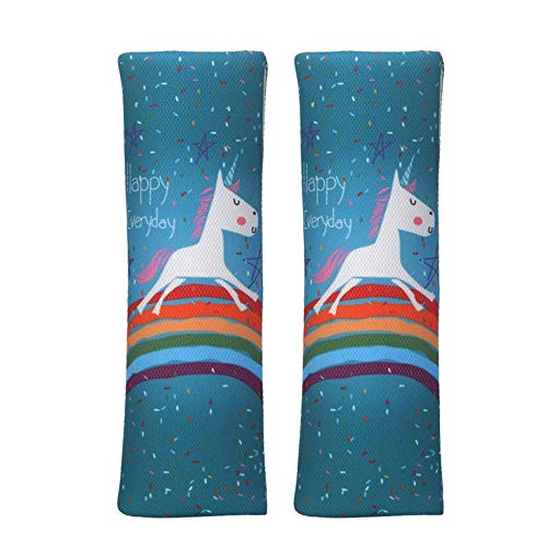 Seat Belt Cover for Kids,2 Pack Unicorn Adult Seatbelt Cover Cushion,Universal Seatbelt Pad for Toddler Car Seat,Comfort Seat Straps Shoulder Protector Pads,Gift for Child,Baby Girl Boy (Unicorn)
